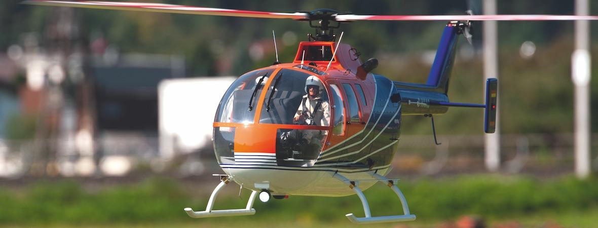 Kunstflugtauglich: Bo 105 Superscale 800 von Roban