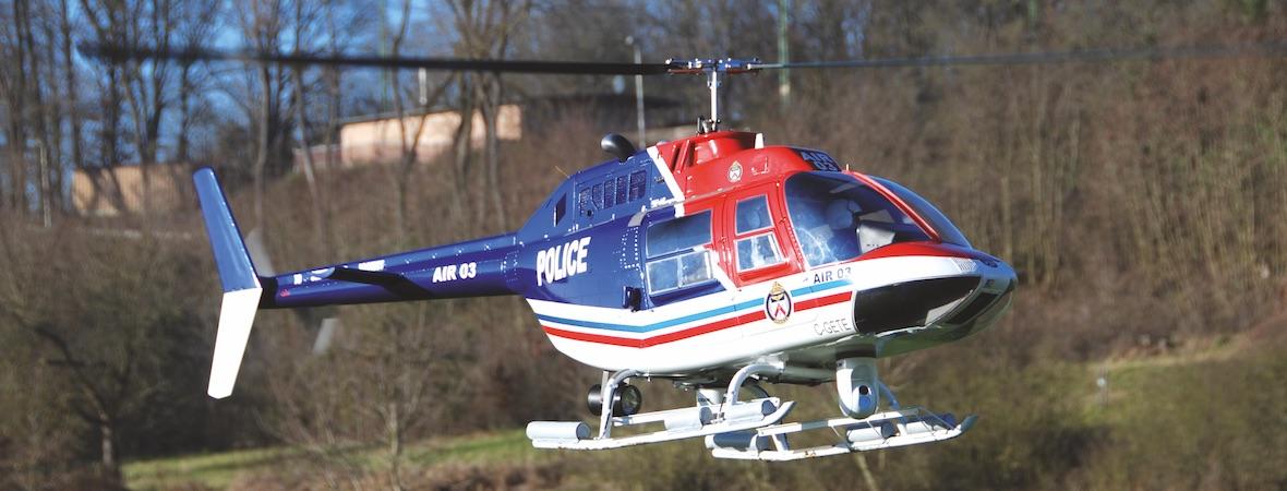 JetRanger XL elektrisch – VARIO-Bell 206 mit Elektromechanik
