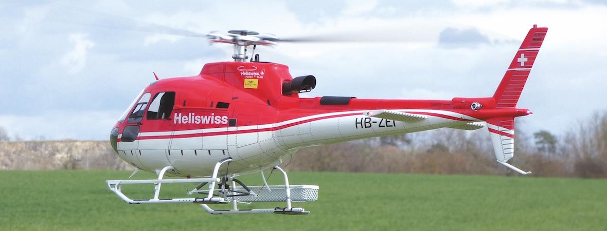 AS350 Écureuil mit Blade Trio 360 CFX-Mechanik