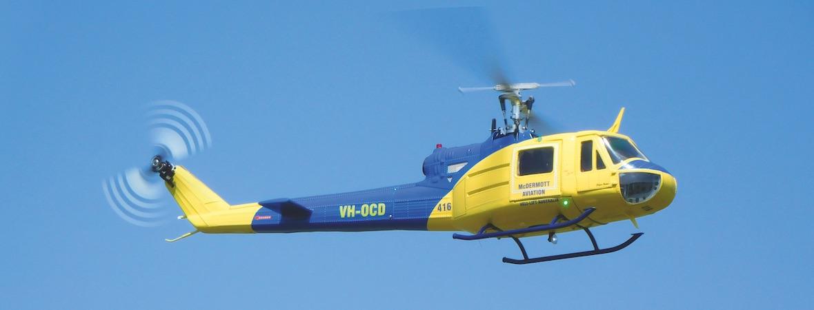 Bell 204B in 450er Größe und mit PET-Rumpf